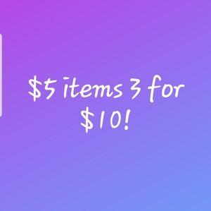 3 for $10 PLUS discounted shipping